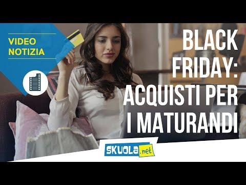 Black Friday, gli acquisti consigliati per i maturandi