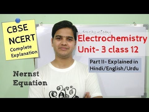 Electrochemistry class 12 part 2 #NCERT unit 3 explained in Hindi/اردو