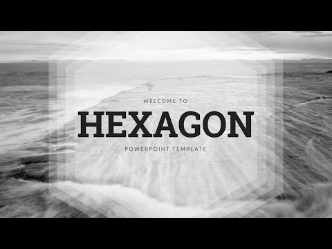 Hexagon powerpoint template video toneelgroepblik Image collections