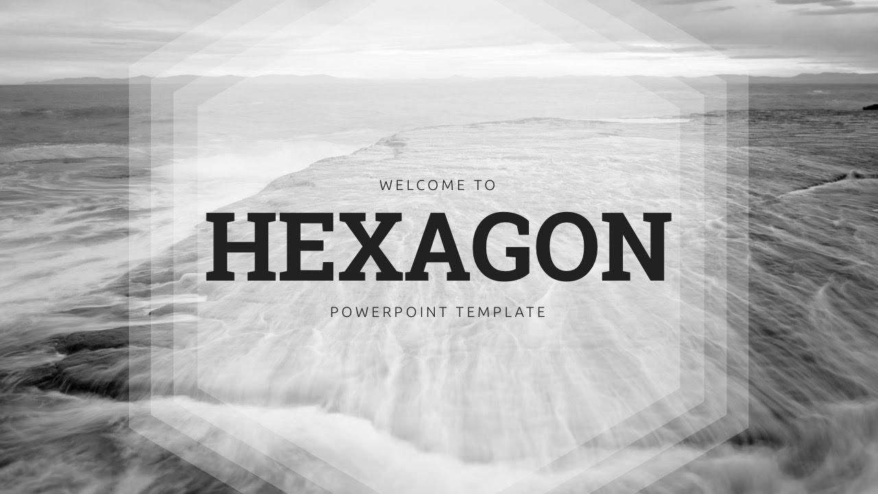 Hexagon powerpoint template youtube hexagon powerpoint template toneelgroepblik Images