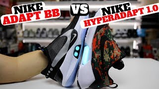 Nike ADAPT BB vs HYPERADAPT 1.0 *Auto Lacing Sneakers! (Which Is Better?)
