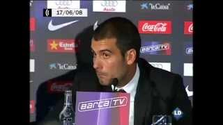 Así fue la presentación de Guardiola como entrenador del Barcelona