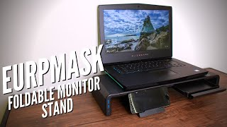 Every Home Office and Gamer Needs This! (Eurpmask Foldable Monitor Stand)