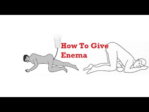 How To Give  Enema || Demonastration and See Procedure