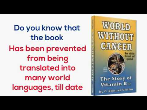 Big Pharma don't want you to read this book! World without cancer 😨😱💀😵