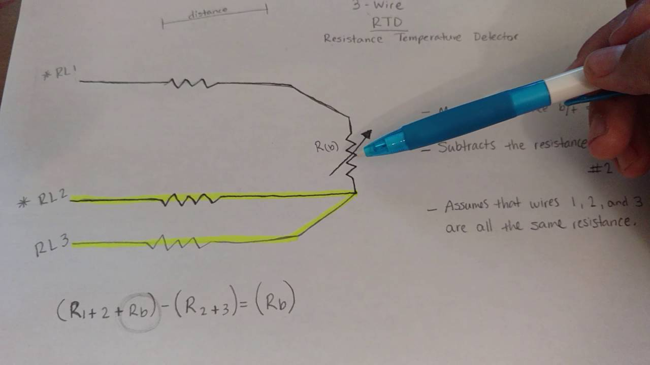 medium resolution of how a three wire rtd compensates for the resistance if it s lead wires youtube