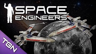 Space Engineers : Star Wars X-Wing Battle - Venator Capital Ship & Mod Spotlight