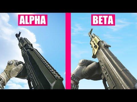 Escape from Tarkov Alpha vs Beta Weapons Comparison