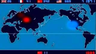 Les détonations des essais nucléaire de 1945 à 1998. (Ajoutée par Le collectif Podbete)