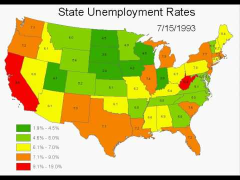 State Unemployment Rates 1/1978-11/2008