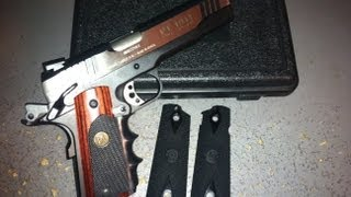 Pachmayr Rosewood Rubber Grips Colt Acp