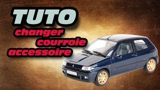 TUTO remplacer courroie accessoire (how to replace a serpentine belt)