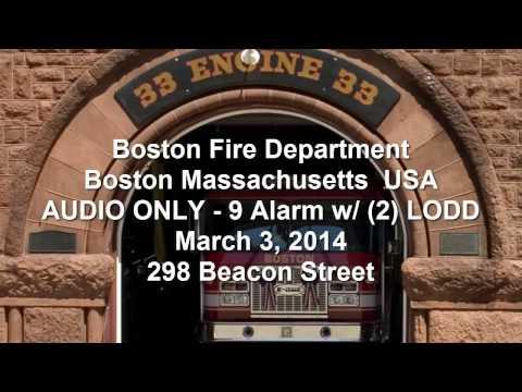 LODD Boston Fire Dispatch Audio & Fire Ground operations Mayday 9-Alarm
