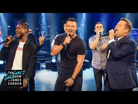 Sexiest Male Vocalist Riff-Off w/ Usher & Luke Evans en streaming