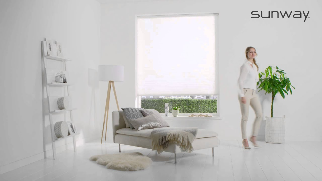 Duette® Shades | SmartCord | SUNWAY® Raamdecoratie: - YouTube