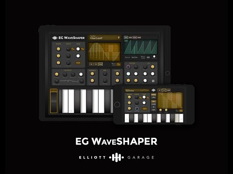 Draw sound with your finger using the EG WaveSHAPER iOS synth