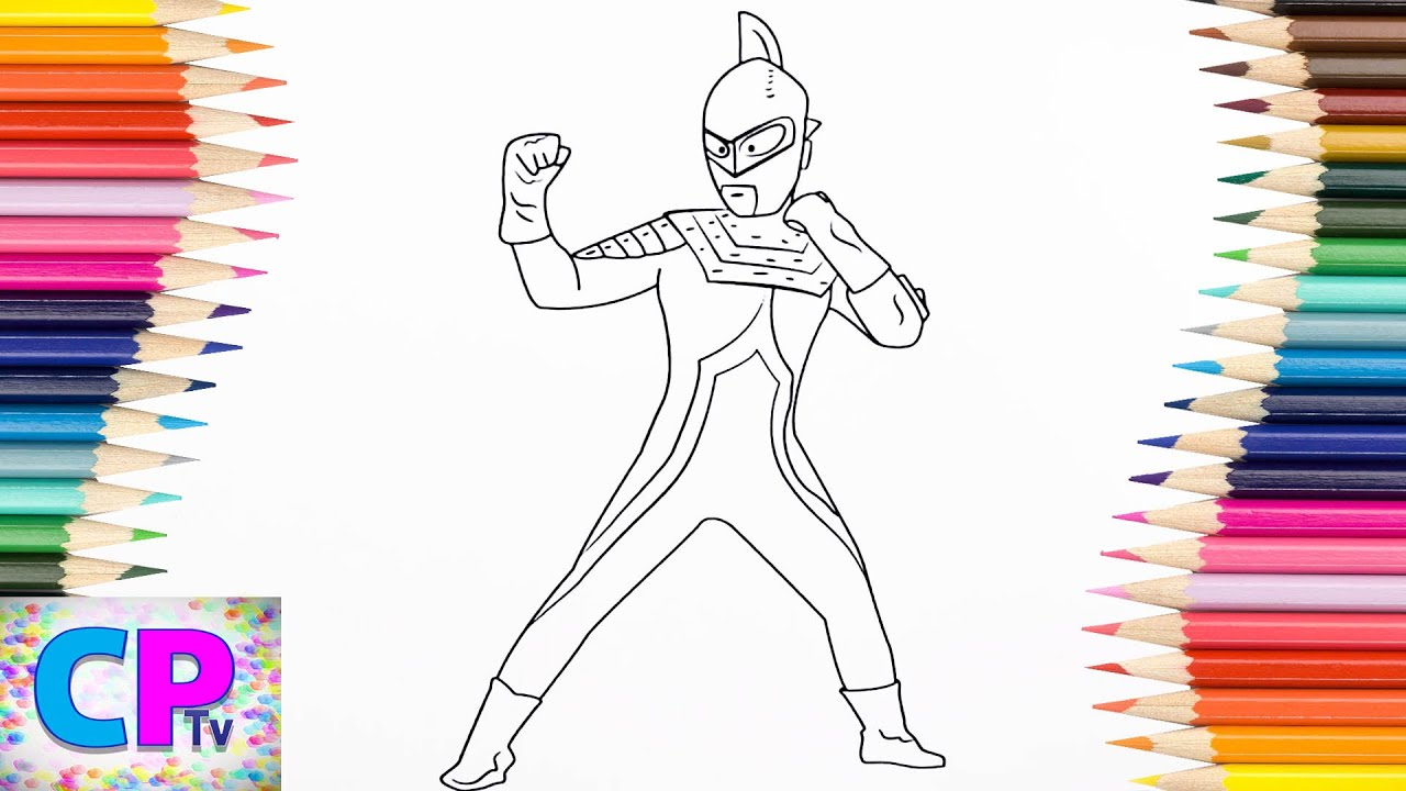 Ultraman Seven Coloring Pages For Kids How To Color Ultraman