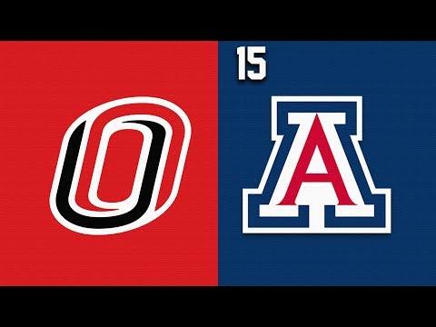 2019 College Basketball Omaha Vs #15 Arizona Highlights