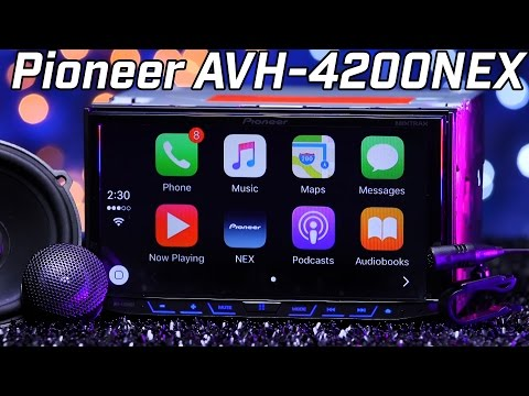 Pioneer AVH4200NEX  Apple Carplay & Android Auto  Double DIN Review 2016