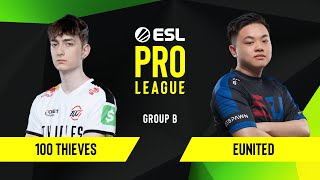 CS:GO - 100 Thieves vs. eUnited [Dust2] Map 1 - Group B - ESL NA Pro League Season 10