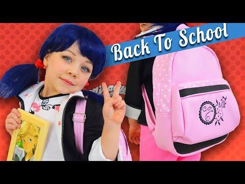 КОСПЛЕЙ МАРИНЕТТ и DIY рюкзак ЛЕДИ БАГ! Cosplay Marinette Miraculous Ladybug DIY backpack Marinette