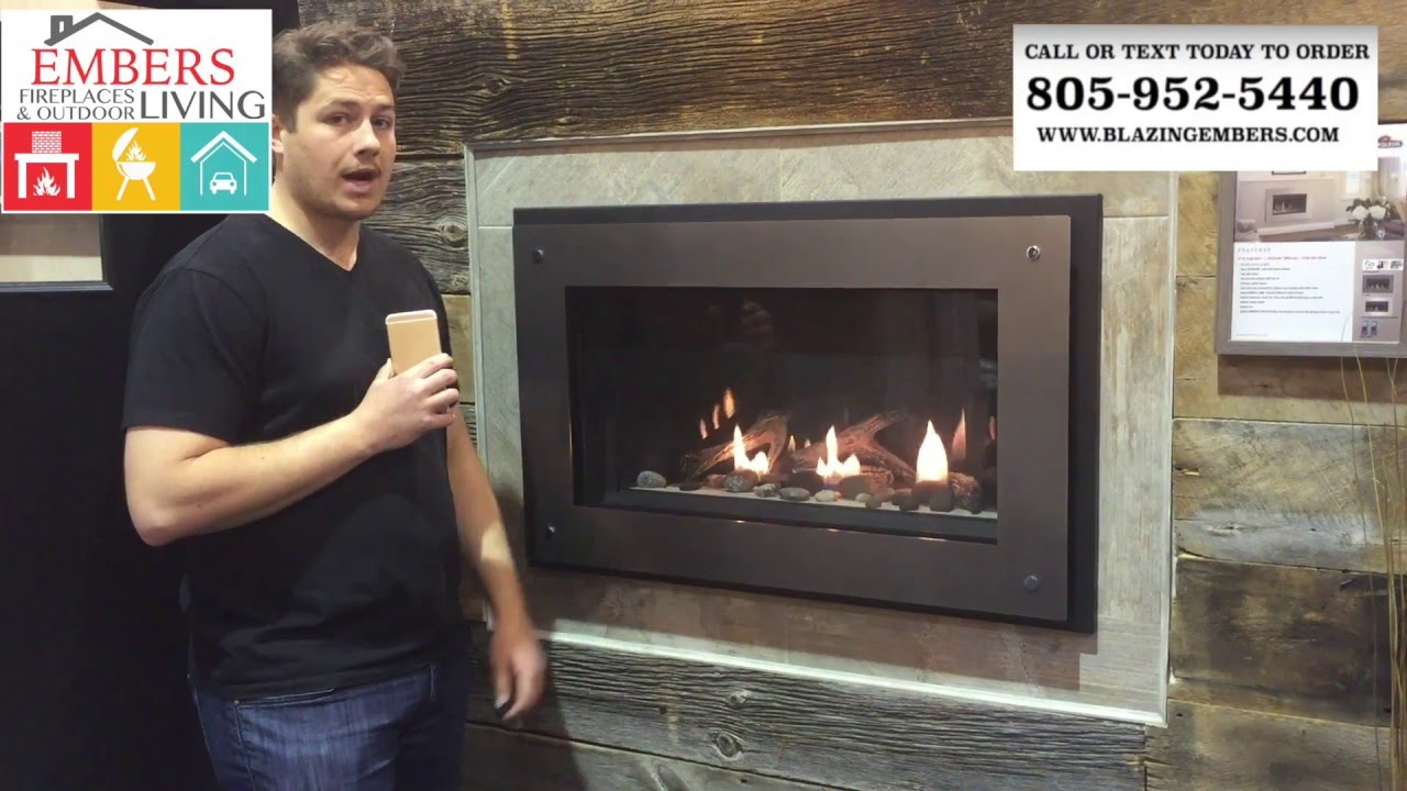 napoleon direct vent gas fireplace linear bl36 youtube