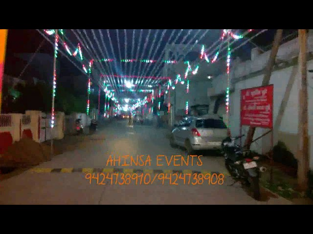 Navratri decoration by Ahinsa Events Chitrakoot complex