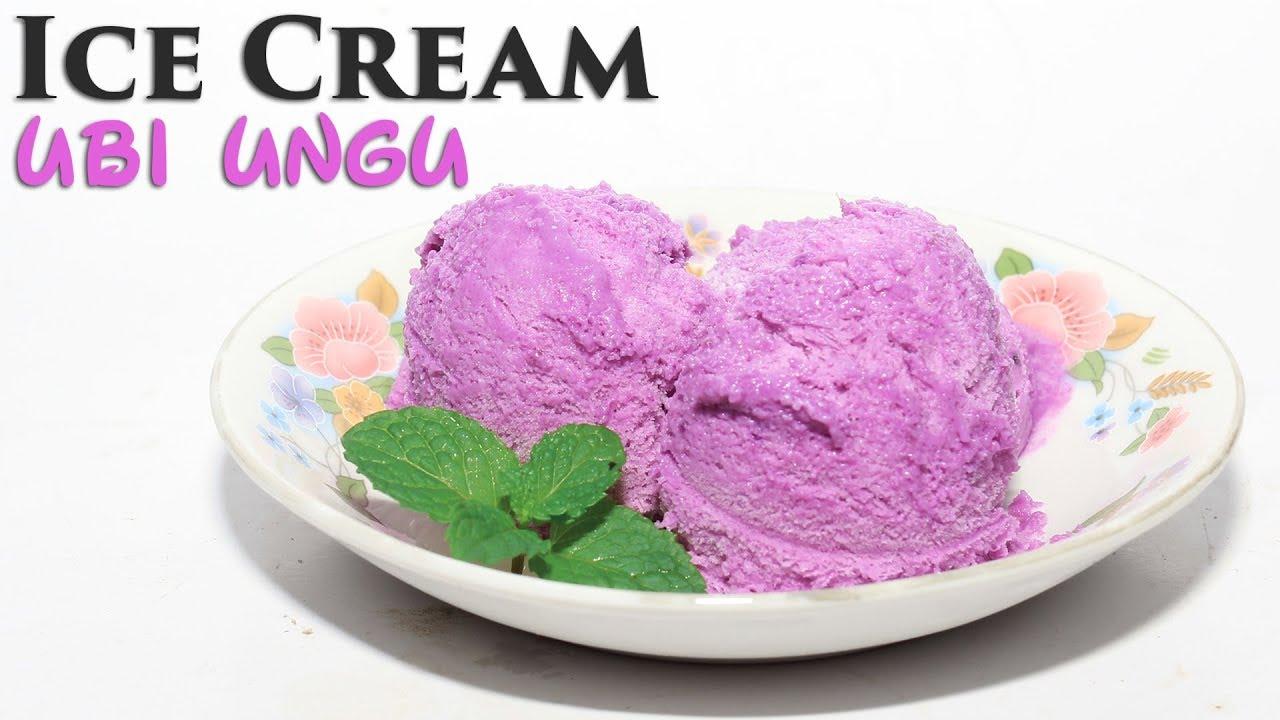 Cara Membuat Es Cream Ubi Ungu
