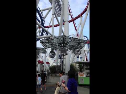 Battlestar Galactica roller coaster Universal Studios Singa