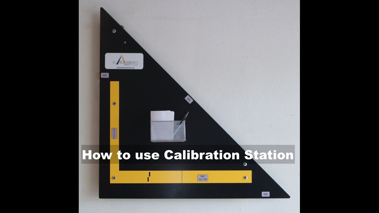 How to use calibration station verifying calibration of tape measures