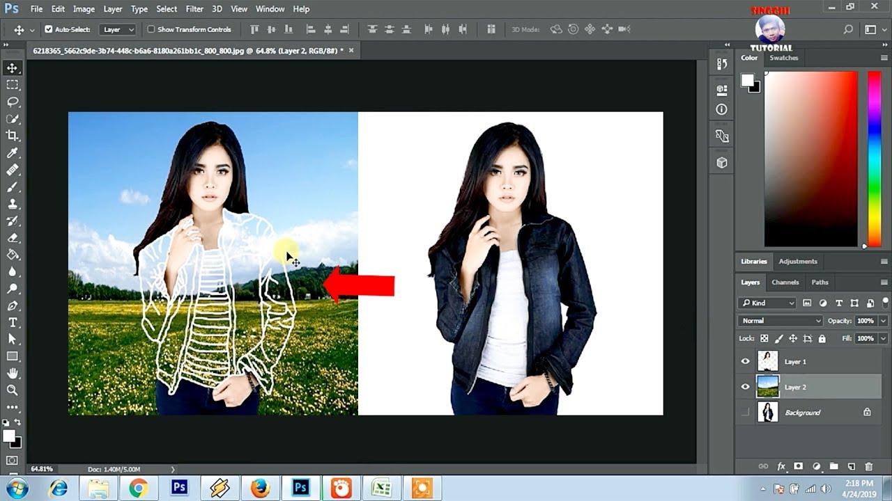 Cara Edit Foto Kekinian Baju Transparan Di Photoshop - YouTube