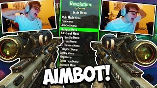 TROLLING FANS WITH AIMBOT IN SnD! (GONE WRONG!) - BO2 Aimbot Trickshotting