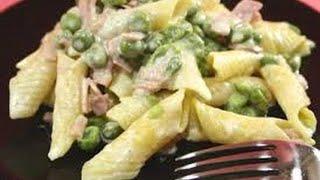 Ricetta Veloce Pasta,panna,prosciutto E Piselli,quick Recipe Pasta, Cream, Ham And Peas