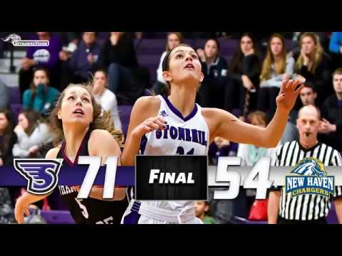 Stonehill Women's Basketball Highlights and Post-Game Interviews vs. New Haven