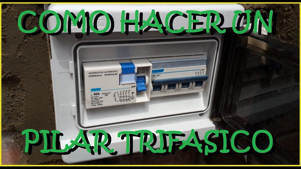 Como hacer pilar monof sico trifasico youtube - Como hacer una solera de hormigon ...