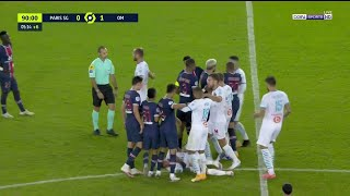 PSG vs Marseille Brawl (5 Red Cards)