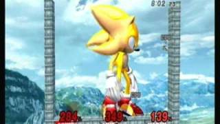 Brawl Hacks - Giant Super Sonic v.s. Link & Marth