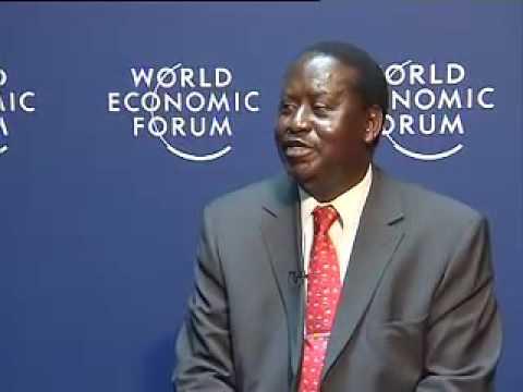 Kenya Prime Minister, Raila Odinga at WEF on Africa