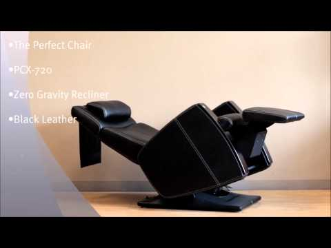 Human Touch Perfect Chair PCX 720 Electric Zero Gravity Recliner Black Leather