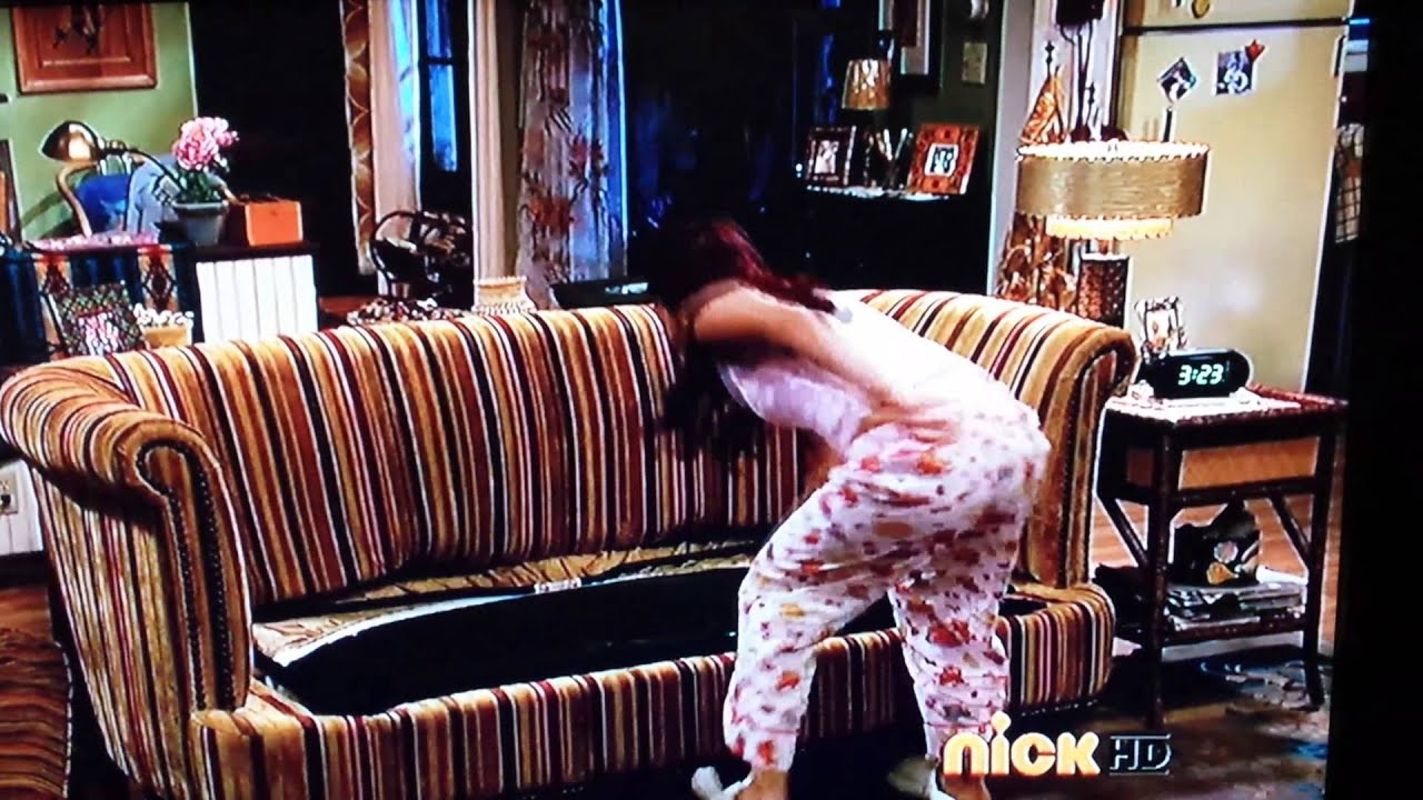 sam and cat sofa bed trick billig sofaer clip stuck in the youtube