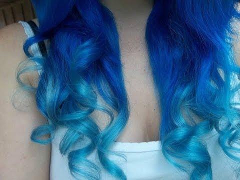 Dark brown hair with blonde dip dye