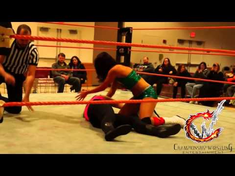 Justine Silver Vs. Lena Taylor (CWE: Tag Team Lottery - January 3, 2014)