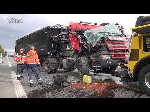 07.10.2019 - VN24 - LKW Unfall Auf Der A2 Bei Bergkamen
