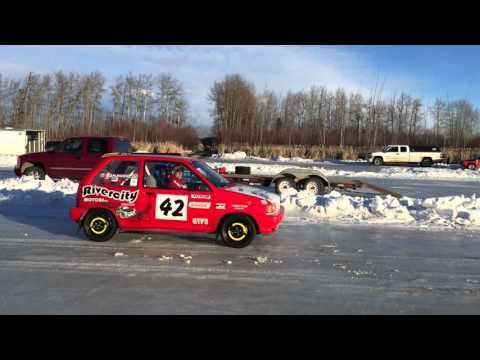 Roy's Lake Ice Track - Northern Alberta Sports Car Club ice racing