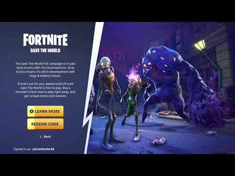 Fortnite Battle Royale - Save The World - Redeem Code - Part 1