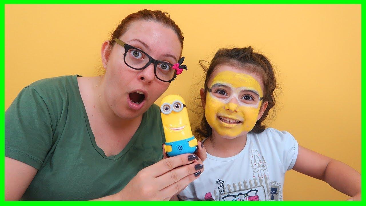 Rüya Ile Minions Yüz Boyaması Yaptık Yüz Boyama şekilleri Youtube