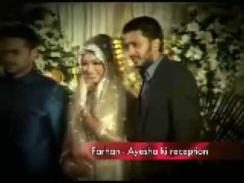Ayesha Takias Wedding Reception Youtube