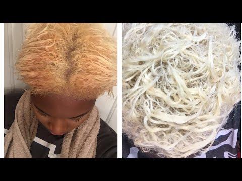 How I bleach and tone my hair platinum blonde