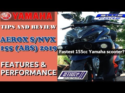 YAMAHA AEROX S / NVX 155 (ABS) 2019 SPECS AND FEATURES REVIEW | PERFORMANCE | GAS MILEAGE | AEROX