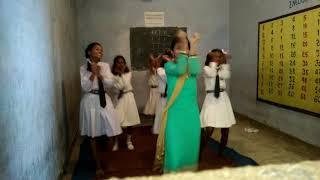 Village school's girl learning dance in loung lachi